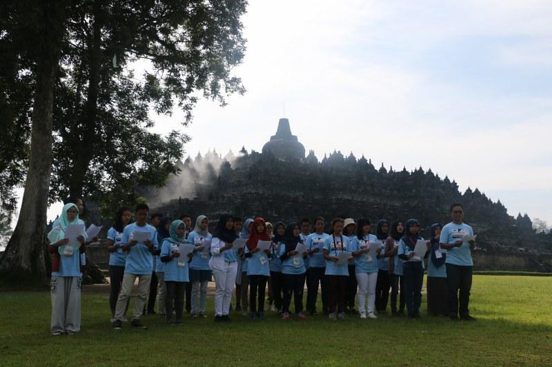 World Heritage Camp Indonesia 2016 di Candi Borobudur