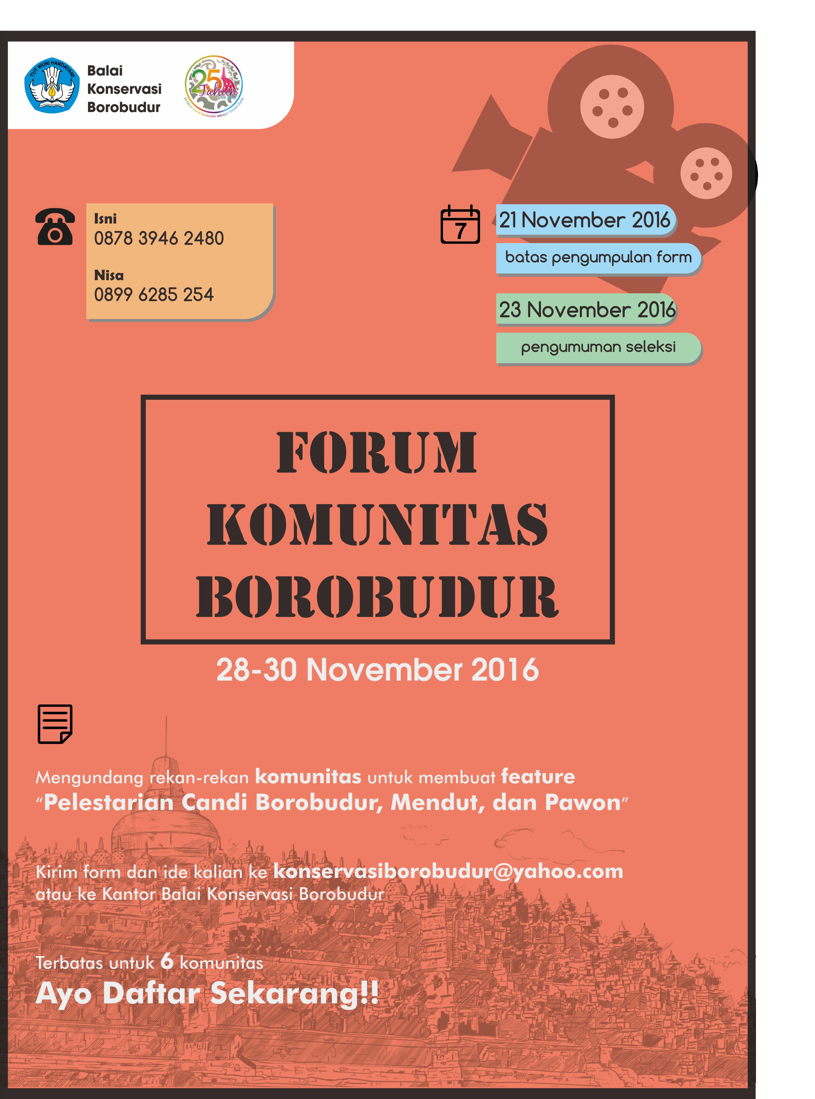 FORUM KOMUNITAS BOROBUDUR 2016