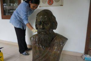 Konservasi Patung Rabindranath Tagore