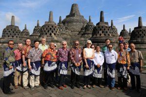 Kunjungan Direktur IMF di Candi Borobudur
