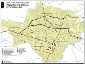 Peta Sebaran Aset Pusaka Budaya (RAKP Kota Surakarta, 2015)