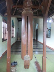 Kentongan di dalam Masjid Agung Majalaya