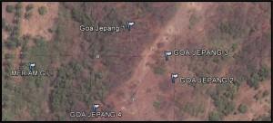 Letak Goa Jepang