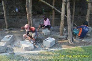 Penyediaan Batu Pengganti Untuk Pemasangan Candi Induk