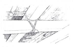Gambar detail ikatan pada konstruksi bangunan