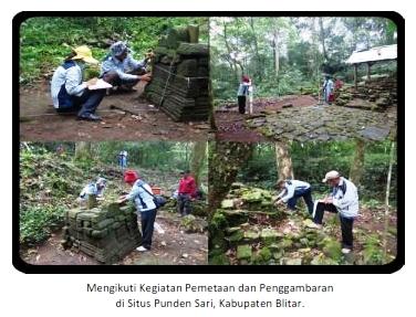 kegiatan pemetaan dan penggambaran situs Pundensari di kabupaten Blitar