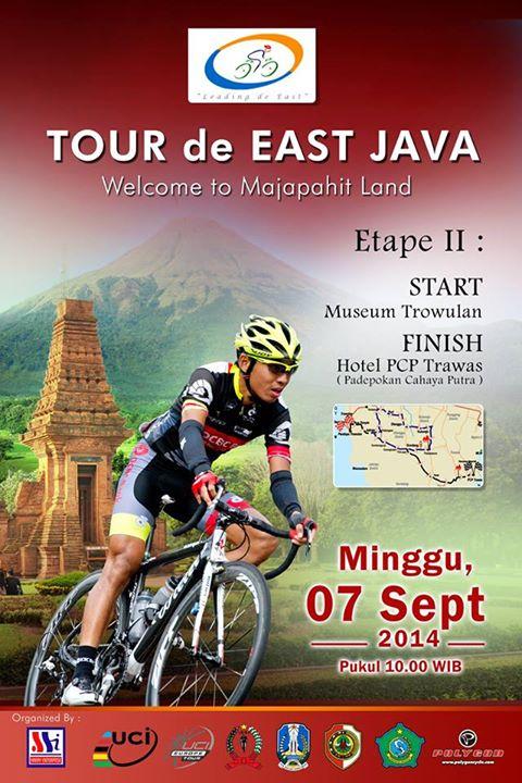 Tour De East Java 2014 At Museum Majapahit Balai Pelestarian Cagar