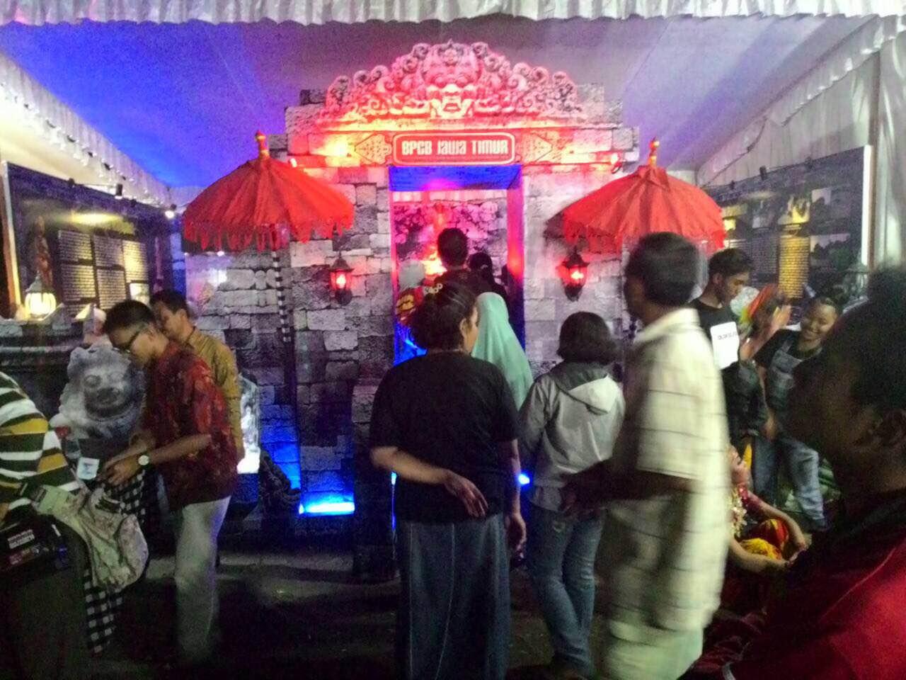 Tampak Depan, Stand Museum Majapahit, BPCB Mojokerto saat Pameran Museum 2015