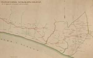 peta jalur kereta api di yogyakarta 1890 e