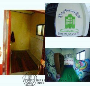 Ruang perpustakaan SDN Muara 3 Bogor
