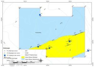Peta geologi lokasi rencana tambang galian C di Desa Karangmalang, warna kuning adalah Formasi Tapak (dibuat oleh Tim Balar Yogyakarta)