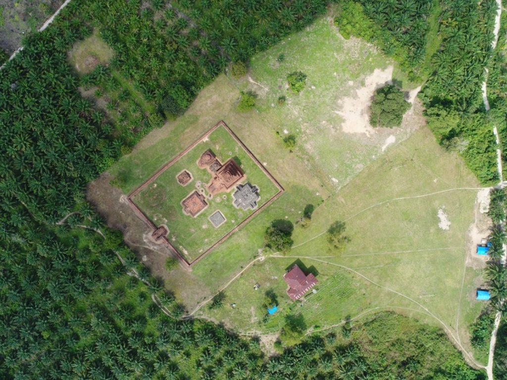 Foto udara Candi Si Pamutung
