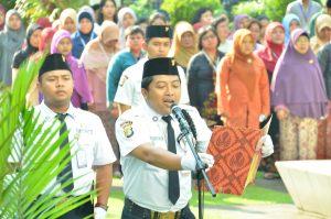 Suasana Upacara Peringatan Hardiknas 2018 di Museum Nasional Indonesia