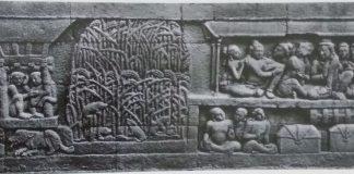 Relief Karmawibhangga panil No. 65 tentang pertanian padi