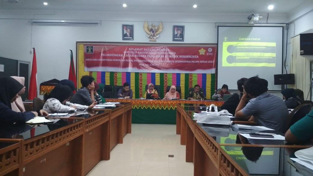 Read more about the article Kemenkumham RI melaksanakan FGD Pelindungan Cagar Budaya pada masa konflik bersenjata.