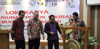 Pembukaan Lokakarya Pokok Pikiran Kebudayaan