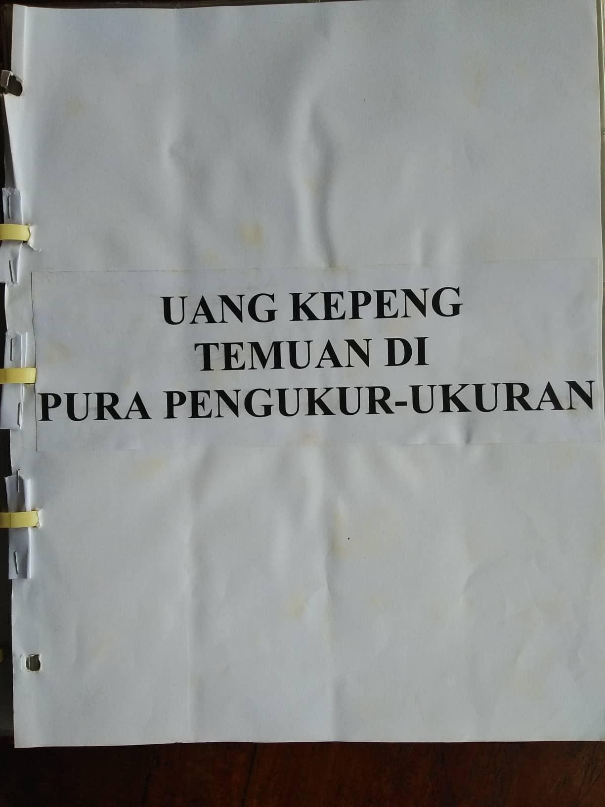 Read more about the article Temuan Uang Kepeng di Pura Pengukur-ukuran