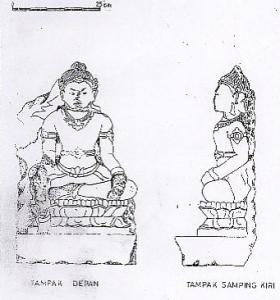 Arca Boddhisattwa di Pura Genuruan, Bedulu