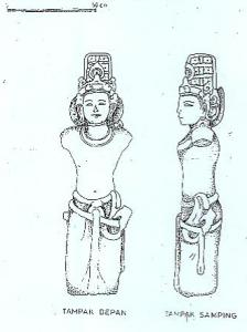 Arca Bodhisattwa di Pura Dukuh Kedangan, Bedulu