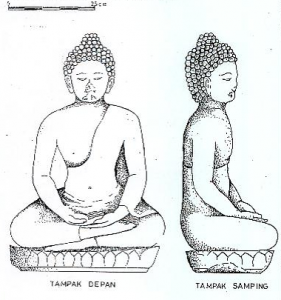 Arca Buddha di Pura Petapaan Goa Gajah, Bedulu