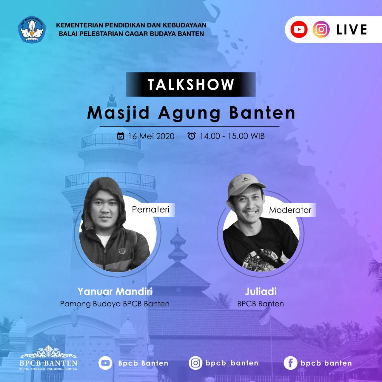 Read more about the article Talkshow: Masjid Agung Banten