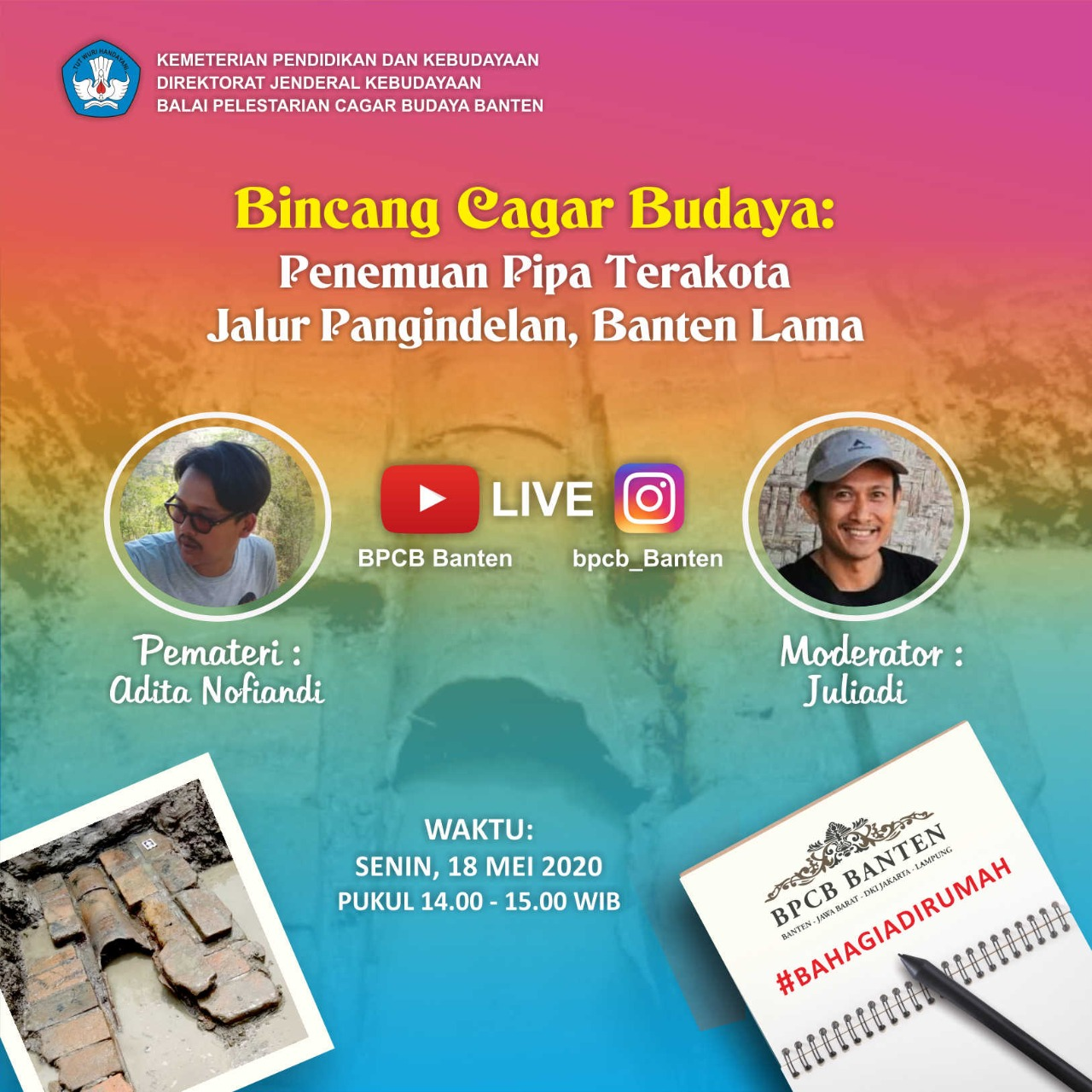 Read more about the article Bincang Cagar Budaya: Penemuan Pipa Terakota Jalur Pangindelan, Banten Lama