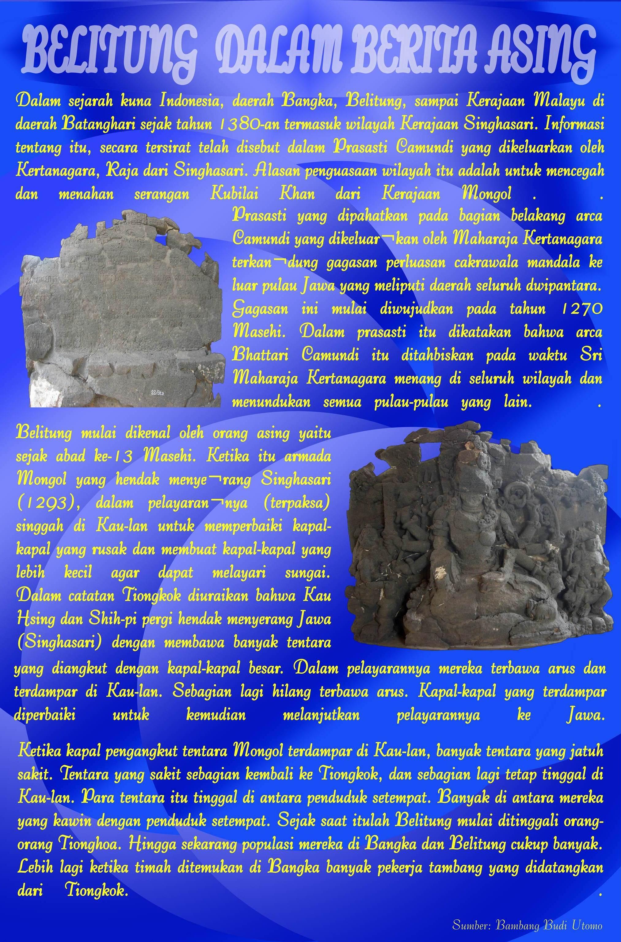 Belitung dalam berita asing