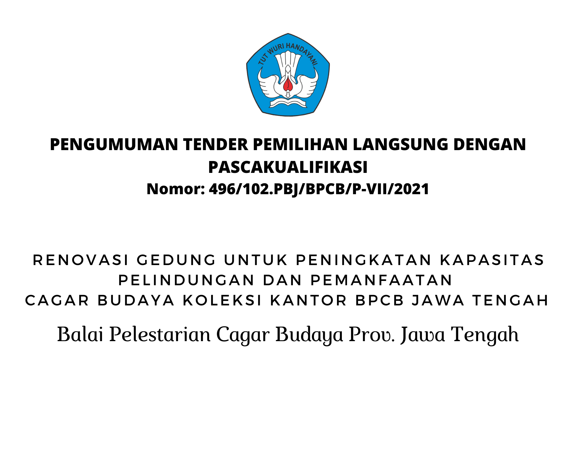 Read more about the article Pengumuman Tender Gedung Kantor