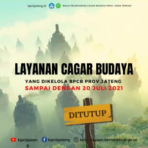 Read more about the article BPCB Prov. Jawa Tengah Perpanjang Penutupan Layanan Cagar Budaya