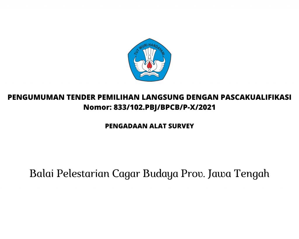 PENGUMUMAN TENDER PEMILIHAN LANGSUNG DENGAN PASCAKUALIFIKASI Nomor 308102.PBJBPCBP-IV2021