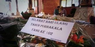 Tumpeng Peringatan HUT Purbakala 102 Th