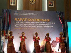 Read more about the article Rapat Koordinasi Pusat dan Daerah Bidang Kebudayaan tahun 2017