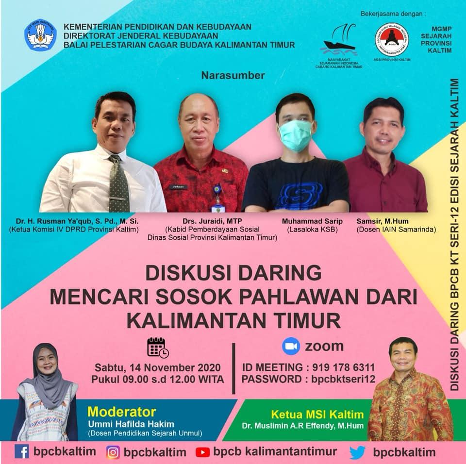 """Webinar Mencari Sosok Pahlawan Dari Kalimantan Timur"""""""