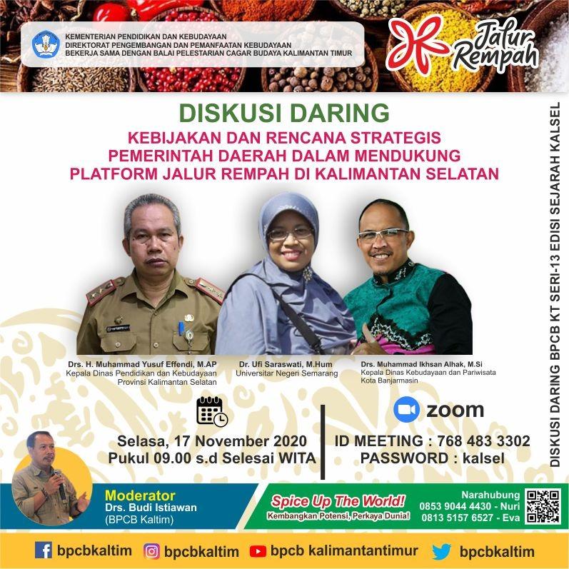 """""""Kebijakan dan Rencana Stategis Pemerintah Daerah Dalam Mendukung Platform Jalur Rempah Di Kalimantan Selatan"""""""