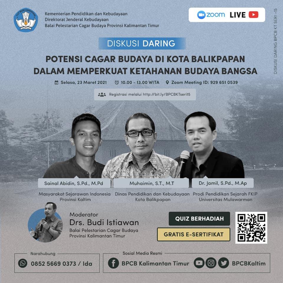 "Read more about the article Diskusi Daring ""Pengenalan Cagar Budaya di Kota Balikpapan"""
