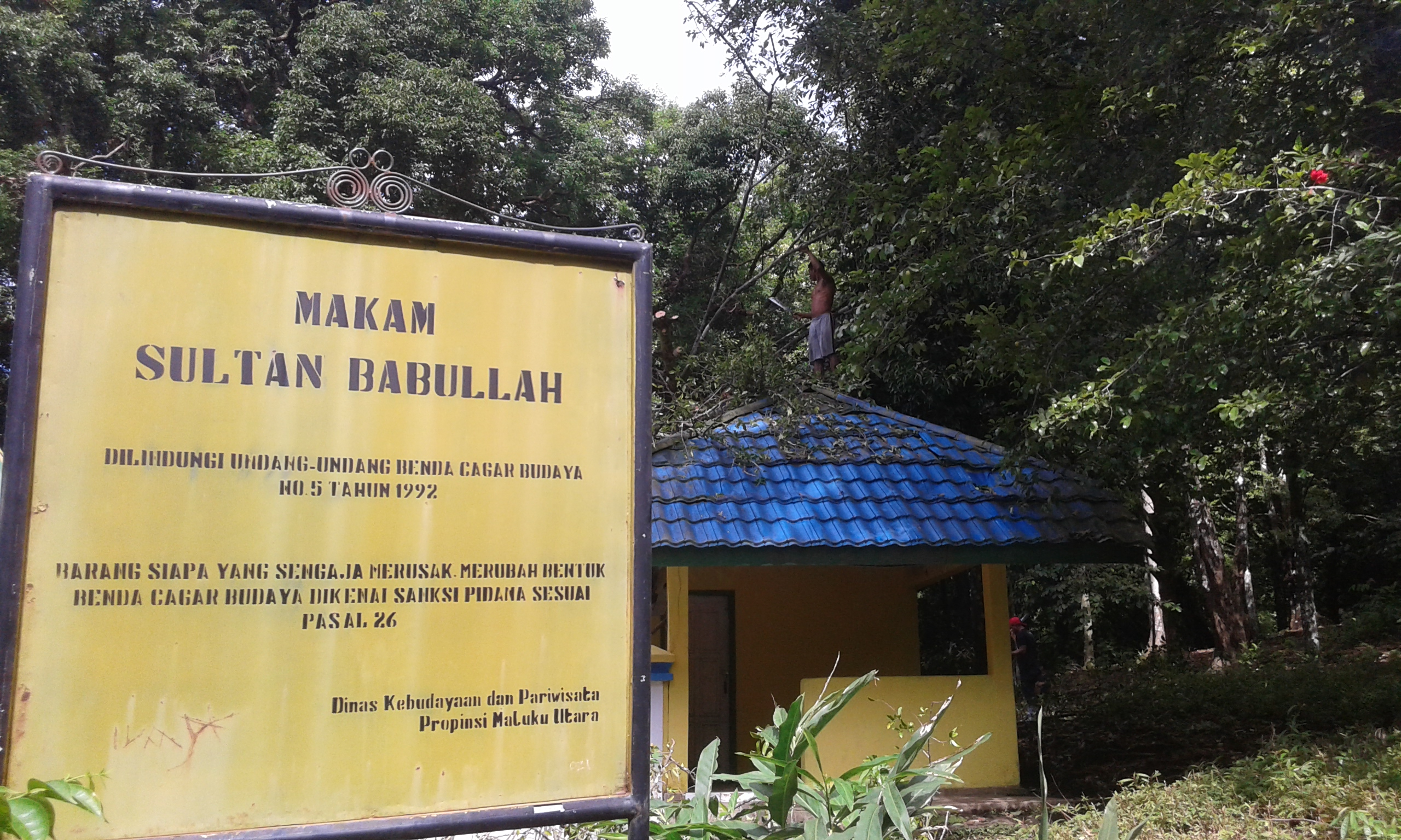 You are currently viewing Jum'at Bersih di Cagar Budaya (Makam Sultan Babullah)