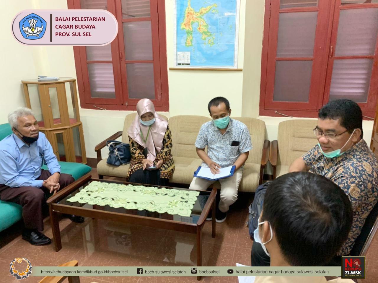 Konsultasi Pengadilan Kota Baubau kepada Balai Pelestarian Cagar Budaya Provinsi Sulawesi Selatan
