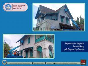 Read more about the article Konservasi Bangunan Villa Yuliana dilakukan oleh Staff BPCB Prov. Sulsel