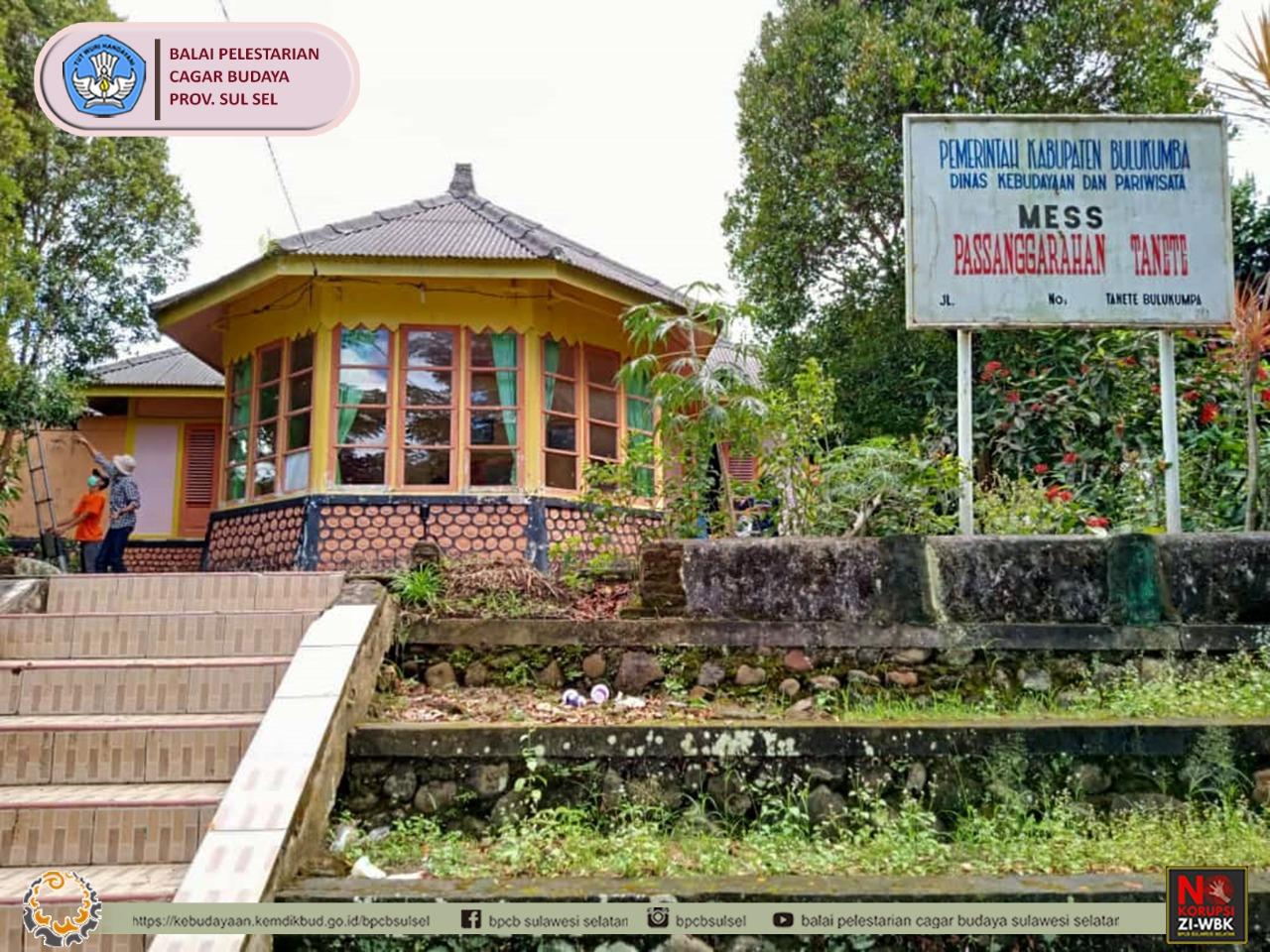 Penggambaran Bangunan Kolonial Pesanggarahan Tanete, Kabupaten Bulukumba, Provinsi Sulawesi Selatan