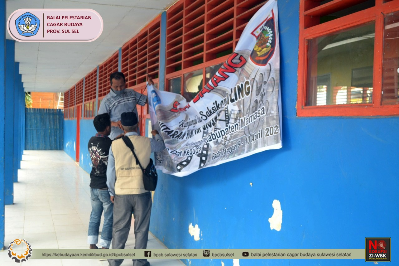 Sosialisasi Cagar Budaya melalui bioskop keliling yang bekerjasama dengan SMP Negeri 1 Mamasa