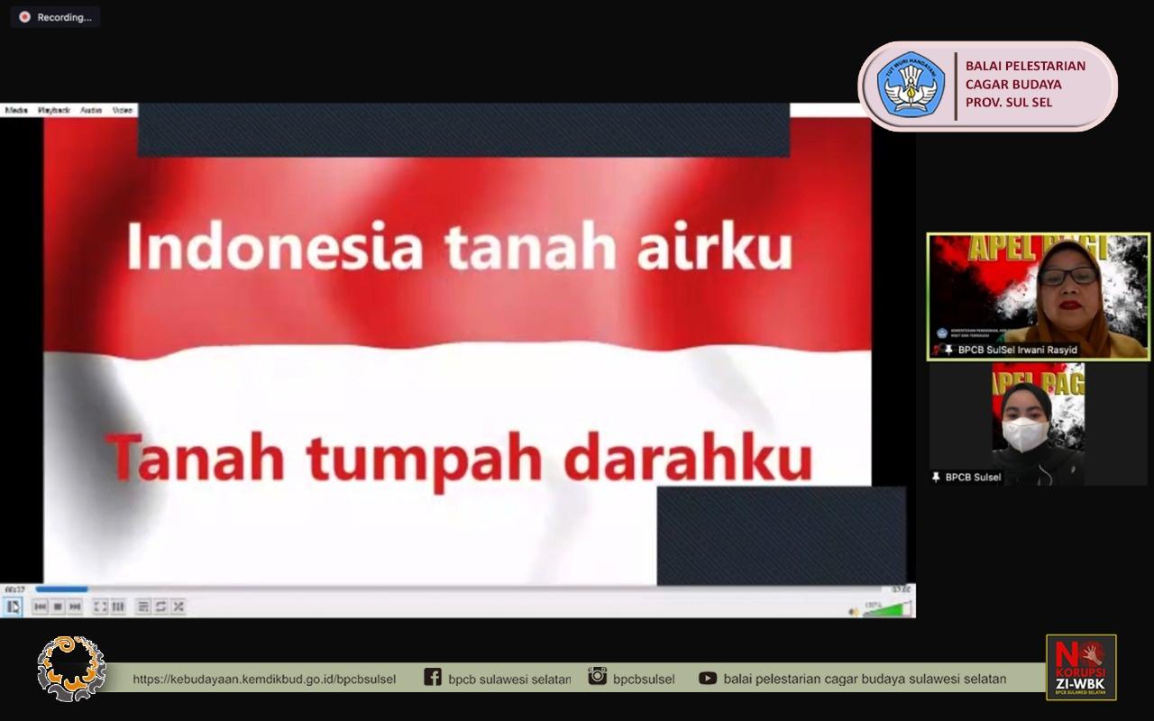 Read more about the article Balai Pelestarian Cagar Budaya Provinsi Sulawesi Selatan melaksanakan apel pagi virtual