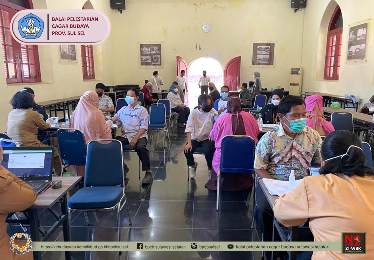 Read more about the article Vaksinasi ke-2 kepada seluruh pegawai dan keluarga Balai Pelestarian Cagar Budaya Provinsi Sulawesi Selatan