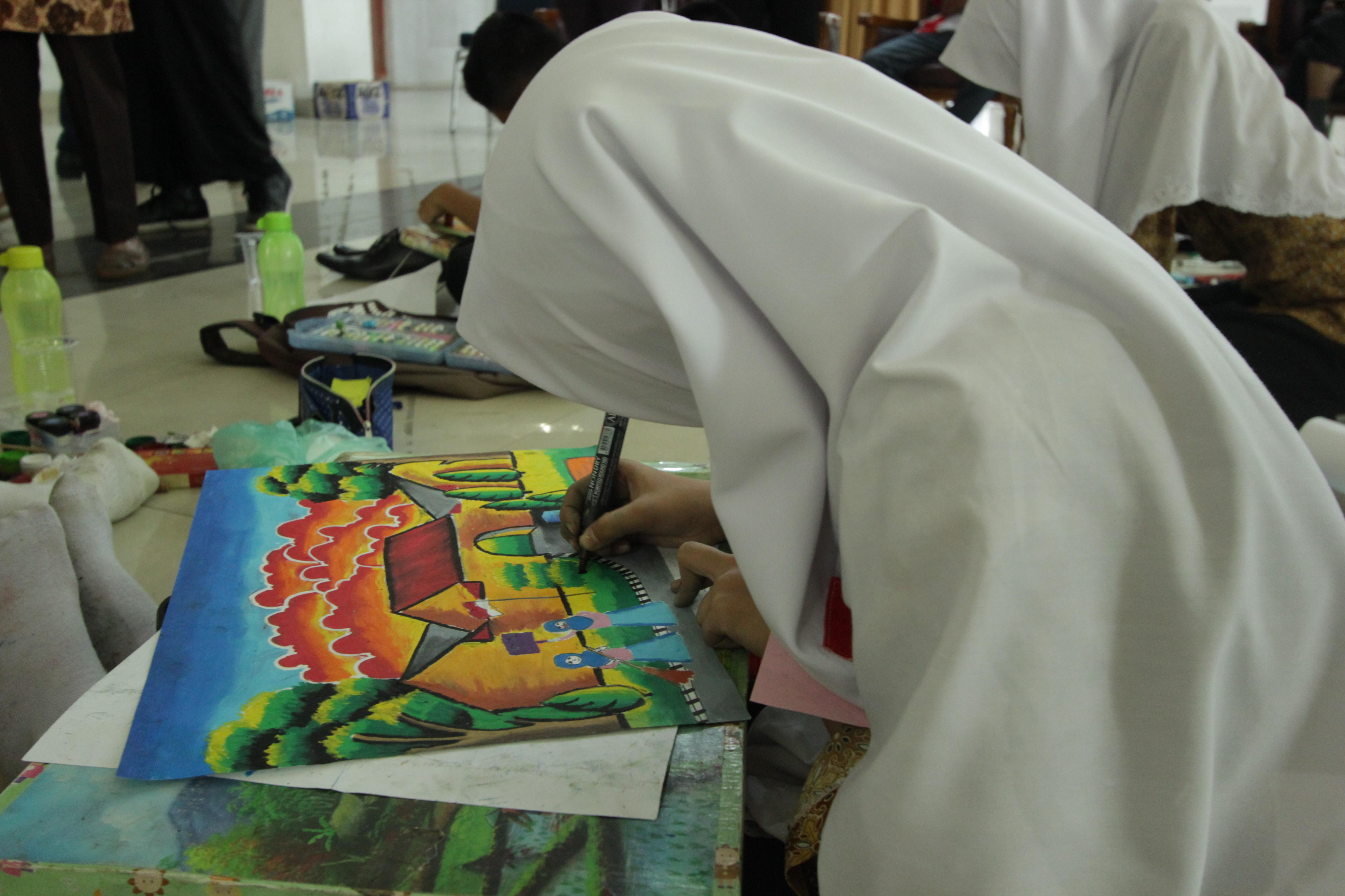 Pemenang Lomba Melukis Dan Mewarnai Cagar Budaya Festival