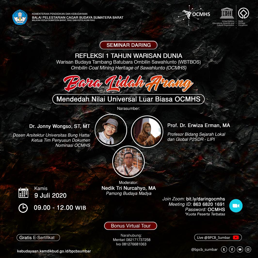 Read more about the article Bara Lidah Arang: Mendedah Nilai Universal Luar Biasa OCMHS  (Ombilin Coal Mining Heritage of Sawahlunto)