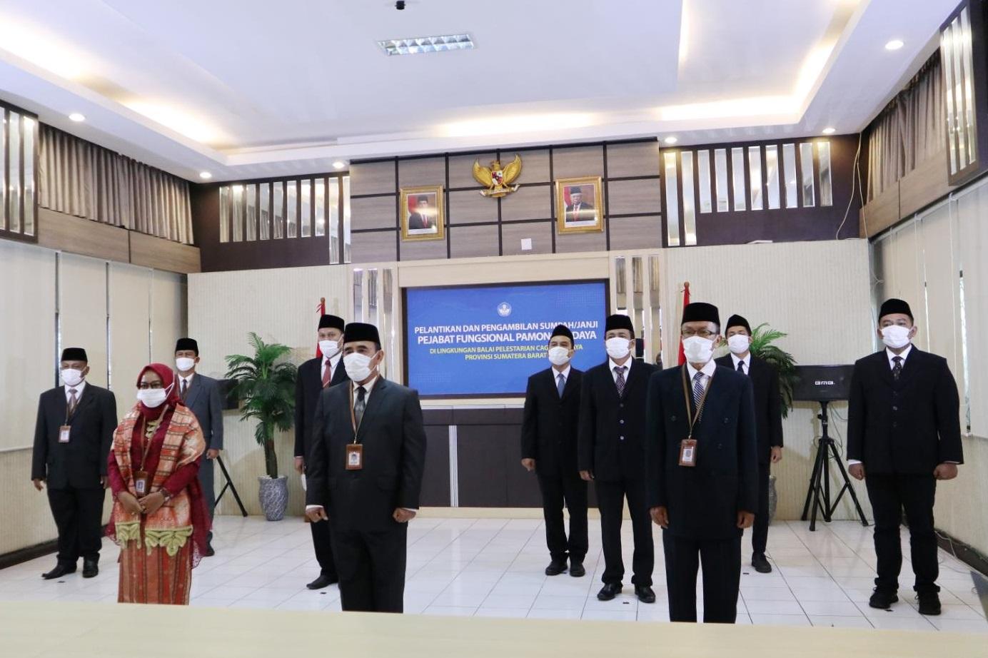 Read more about the article Direktur Jenderal Kebudayaan Melantik 10 Pamong Budaya BPCB Provinsi Sumatera Barat