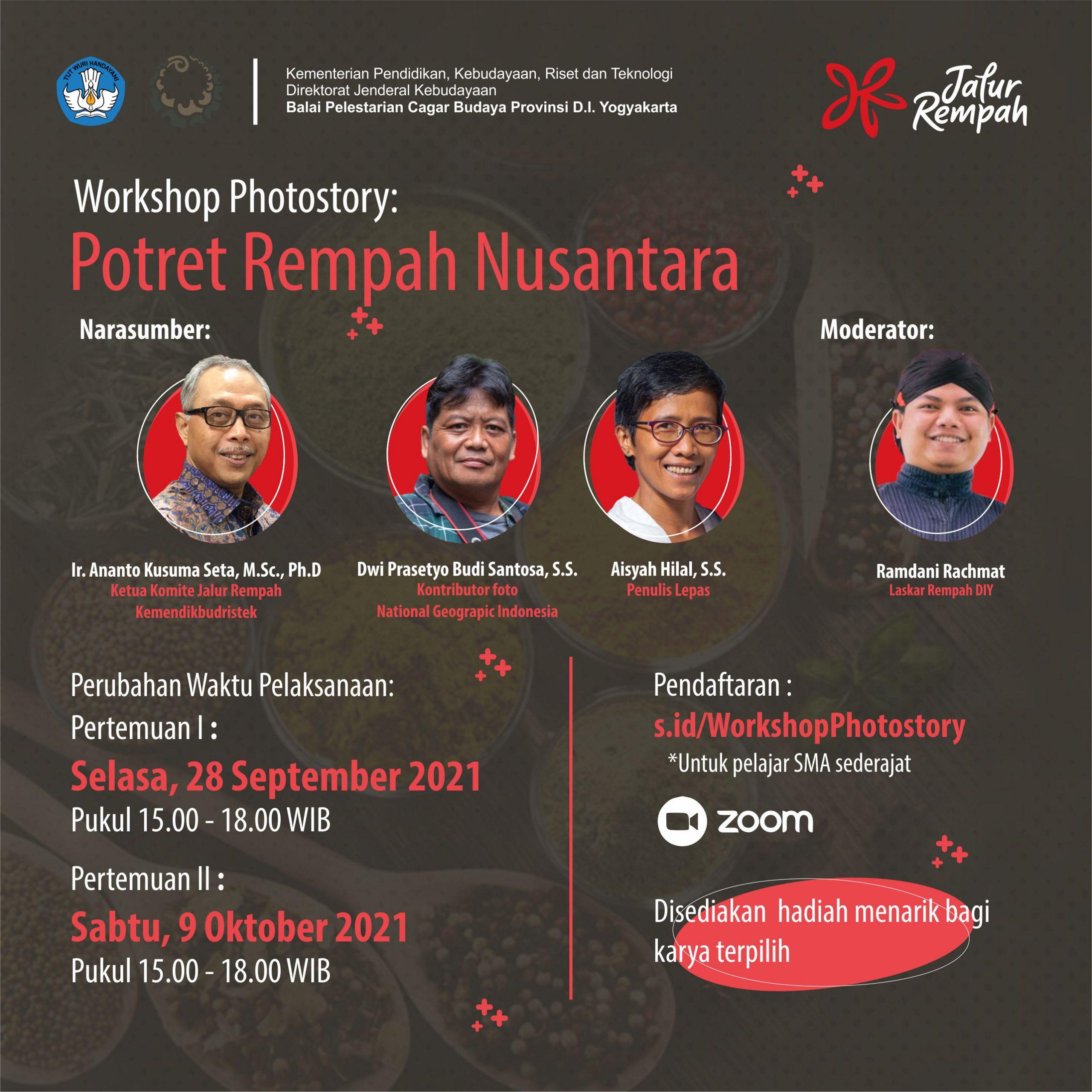 Read more about the article Workshop Photostory: Potret Rempah Nusantara