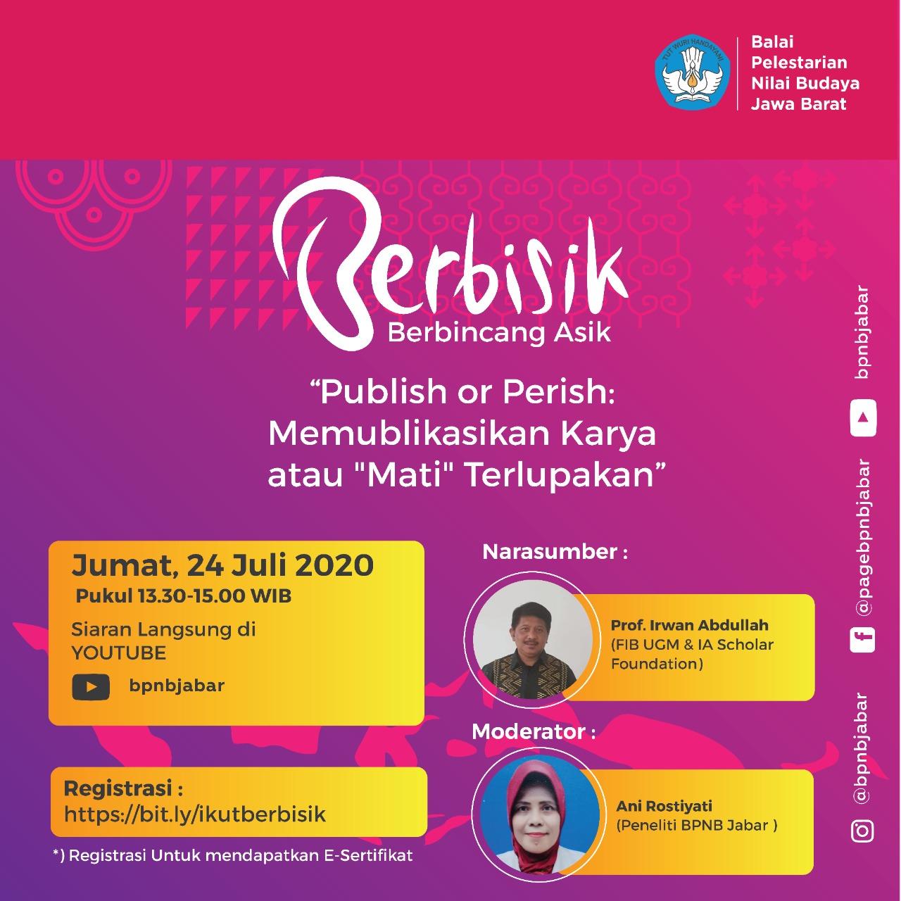 """Read more about the article BERBISIK: """"Publish or Perish: Memublikasikan Karya atau 'Mati' Terlupakan"""""""