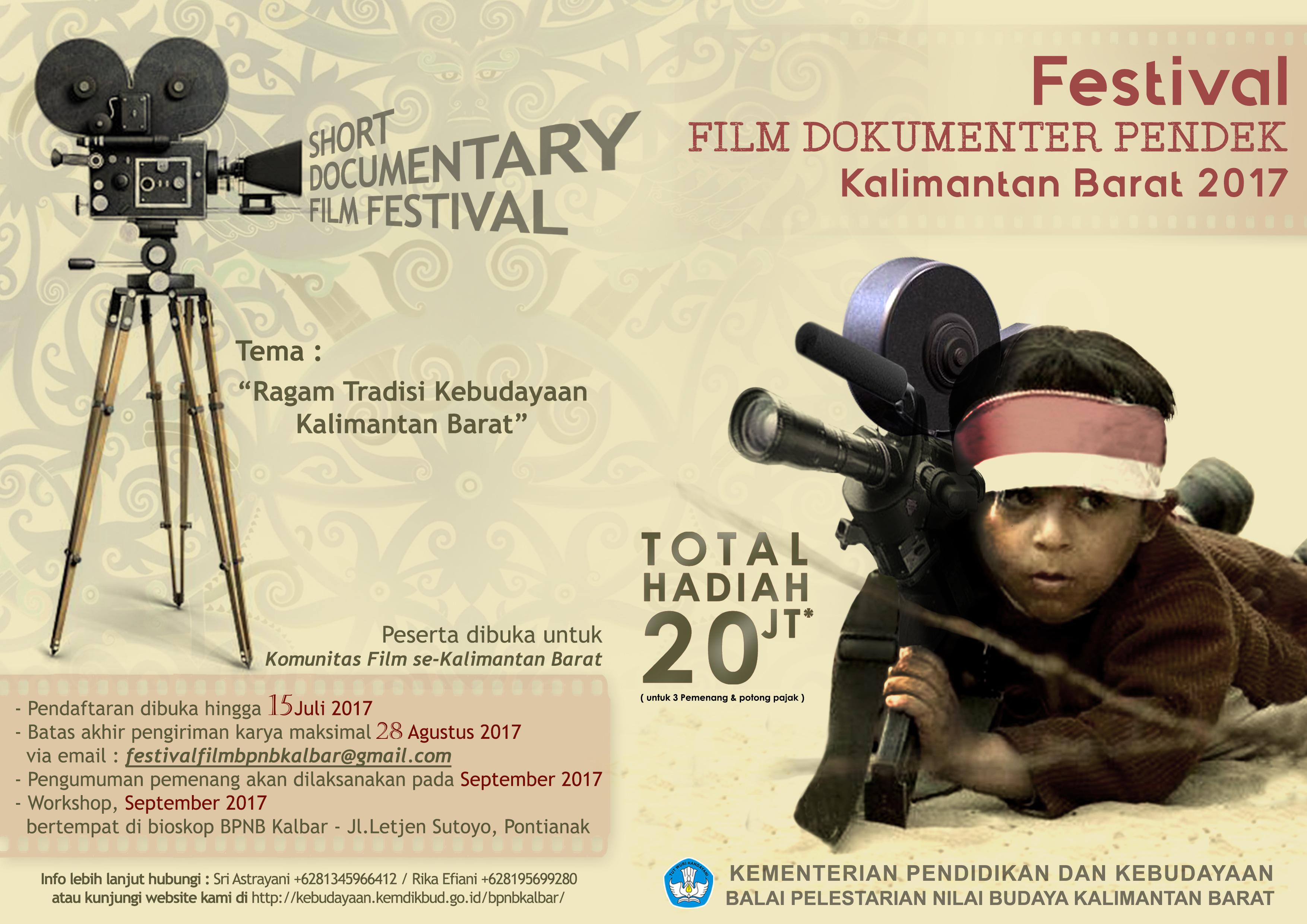 Read more about the article FESTIVAL FILM DOKUMENTER PENDEK 2017 se-KALBAR