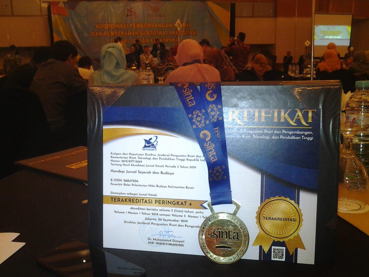 Read more about the article Jurnal Handep BPNB Kalimantan Barat Terakreditasi Peringkat 4
