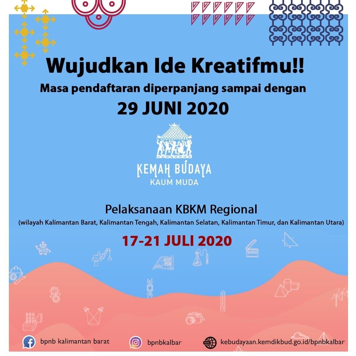 Read more about the article Pendaftaran Kemah Budaya Kaula Muda (KBKM) Diperpanjang Hingga 29 Juni 2020
